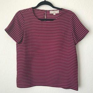 Women's Ann Taylor Loft Petites Striped Polyester